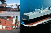 日本へ向かう船